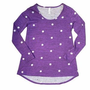 Lularoe Purple polka dotted Lynnae shirt